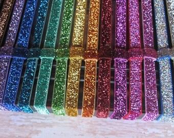 Your Choice of 4 Glitter Interchangeable headbands - elastic - Sparkle - bow headband