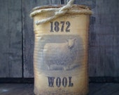 1872 Wool Sheep Can Candle - Homemade - Scented - Only 11.99
