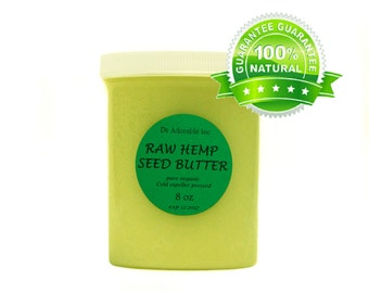 8 oz HEMP SEED BUTTER Fresh Organic Cold  Pressed 100% Pure Natural