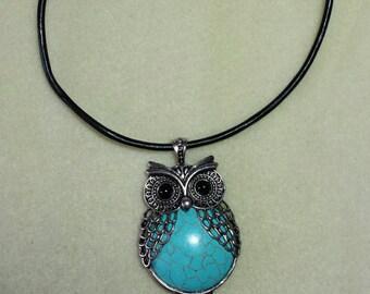 Large Owl Pendant necklace