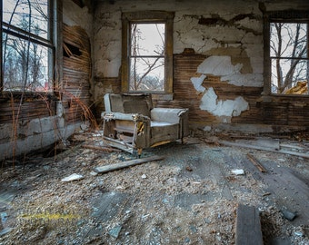 Sweet Seat  Abandoned House Fine Art  Print