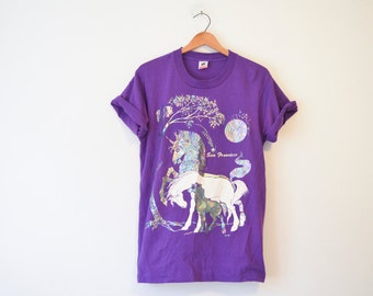 Vintage San Francisco California Unicorn Rainbow T Shirt