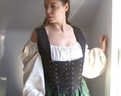 women's corset bodice for pirate gypsy renaissance medieval or steampunk costume -ready to ship-
