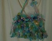 Custom Order For Sheila Mermaid Purse Needle \felted with My Artwork