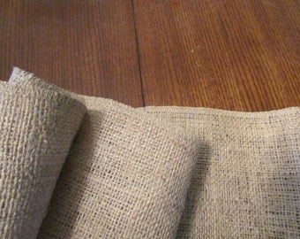 """Burlap table runner, table centerpiece, rustic 12' AND 14"""" wide"""
