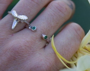 Sterling Silver Shark Tooth Ring size 5.5