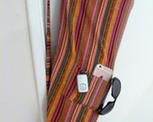 Yoga Bag - Exercise mat bag - Meditation hold all - pink orange yellow purple blue green stripes