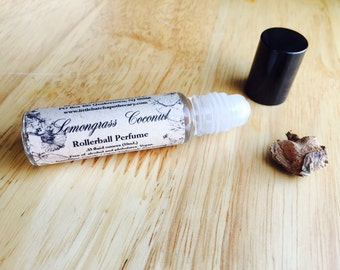 Lemongrass Coconut Perfume Oil, vegan perfume, tropical perfume, fresh perfume