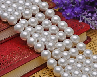lot of 50  Vintage Huge White  20mm Pearl Beads