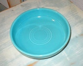 "Vintage Homer Laughlin Fiesta Ware 6"" Turquoise Dessert Bowl Beautiful Excellent/Pristine No. 1"