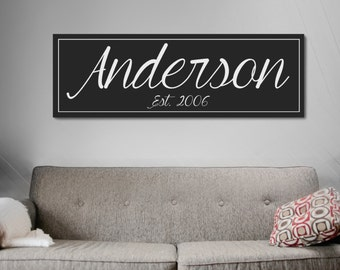 Family Name Plaque, Home Decorative Sign, Wood Last Name Sign, Family Name Sign, Established Sign