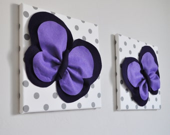 Butterfly Home Decor, Kitchen Wall Tiles, Butterfly Art, Housewarming gift, Purple home decor, Dining Room decor, polka dot, butterfly gifts