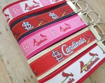 Ribbon Keychain Fob -- St. Louis Cardinals