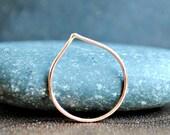 Rose Gold Stacking Rings - Peak Ring