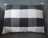 Black Large Check Pillow