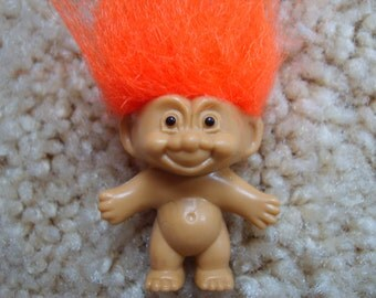 Troll Key Chain, Orange Hair Troll