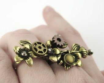 Post Apocalyptic Clothing - Branch Ring - Cyberpunk Clothing - Cyber Punk Clothing - Grunge Rings - Industrial Ring - Steampunk Ring
