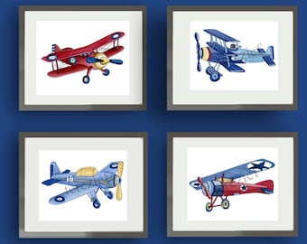 Airplane Nursery Etsy: vintage airplane decor for nursery