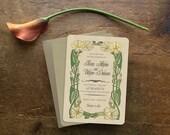 Save the Date, Save the Dates, Art Nouveau Wedding Invitation, Wedding Invitation Set, Vintage Style Wedding Invitation, Morning Glory