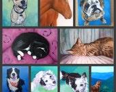 """For Molly: Deposit for 4"""" x 4"""" Custom Pet Portrait"""