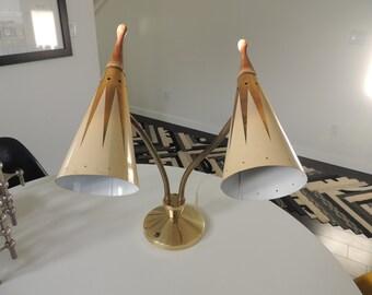 Mid century vintage Retro goose neck lamp