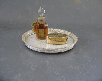 Vintage Gold Vanity tray, Frame, small, filigree