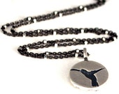 Sterling Silver Hummingbird Charm or Hummingbird Necklace,  Bird Pendant, Bird Charm, Nature Inspired Jewelry, Jewelry By Naomi