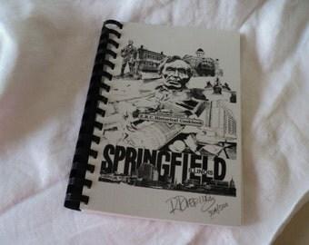 Sangamon County Historical Cookbook Springfield IL Illinois Signed 1990s