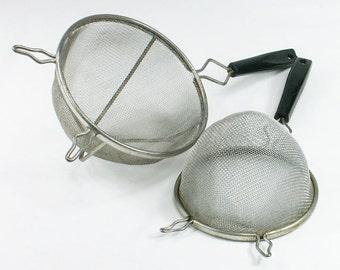 Mesh Strainer Wire Colander Metal Sieve Set of 2