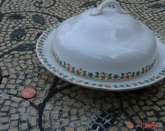 Antique Elpco China Covered Butter/Cheese Dish- Lovely