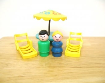 Vintage Fisher Price Little People Patio Set