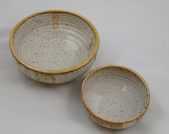 Set of 2 Nesting Bowls Handmade Pottery by Daisy Friesen