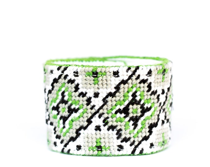 DIY Needlepoint Cuff Kit in Medallion