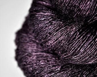 Mashed elderberry - Tussah Silk Lace Yarn - LSOH