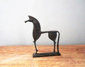 Vintage Cast Metal Etruscan Horse