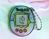 Tamagotchi, 90s, pastel grunge, brooch, holographic glitter, 90's, 90's fashion, 90's kid, pastel kawaii, cute pin