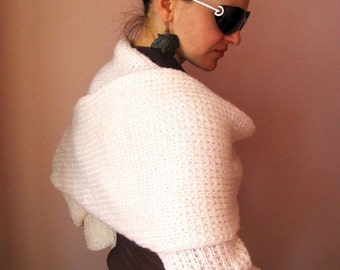 CLEARANCE SALE - 50% OFF- Shrug Fashion White Cardy / Wrap /Shrug in White -- Ready To Ship