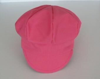 Pink Baby Newsboy Cap Canvas Baby Girl Newsboy Newborn Girl Cap Newborn Girl Hat