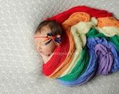 Rain Bow- rainbow ribbon bow headband