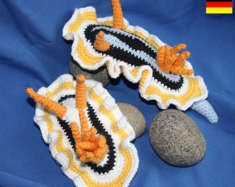 Sea Slug - crochet pattern - Nudibranch (Amigurumi)