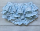 Dorothy Diaper Cover // newborn baby nappy cover blue gingham checked bloomers diaper cover toddler Wizard of Oz newborn-   Dorothy