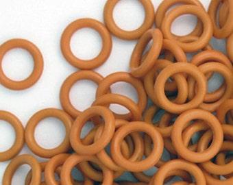 Rubber Rings - Burnt Orange, 15mm, #1062