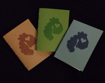 Love MDI Set of 3 Mount Desert Island Notebooks Maine Blank Journals