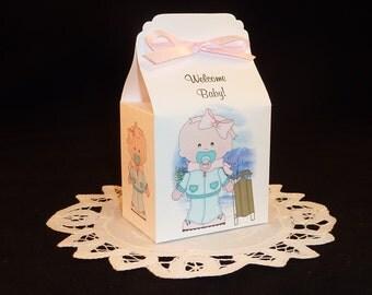 Winter Baby Girl - Baby Shower Favor Box Kits - Set of 12