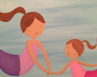 Mermaid Sisters- Original Painting 18x24