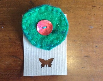 Hand felted brooch