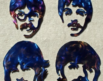 The Beatles Metal Art - FREE SHIPPING!!