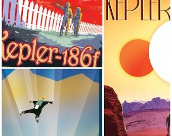 Nasa Travel Posters, Set of THREE