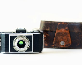 Vintage Kodak Camera with Original Leather Case | Bantam | 1930s