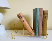 Vintage Plastic Coated Rack, Book, Record, Dish Rack Holder, YELLOW